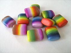 photo tutorial for skinner blend rainbow beads