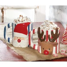 Old St. Nick Ticking Mugs | Mud Pie
