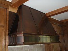 Bronze P03 - Custom Bronze Range Hood - Hoods by Hammersmith