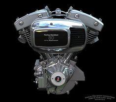 Harley Shovelhead Motor   Harley Davidson 80 ci. Shovelhead Engine 1978 - 1984
