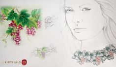 #ArtistsInspiration Inspired by the blooming vineyards, this neckpiece is the perfect pick for ever nature lover!