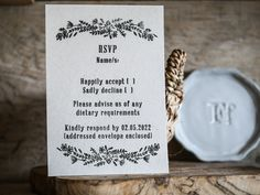 Our new Wildflower Wedding RSVP rubber stamp, team it with the rest of the collection, available now. Wedding Stamps, Wedding Stationery, Wedding Rsvp, Our Wedding, Wild Flowers, Create Your Own, Envelope, Rest, Place Card Holders