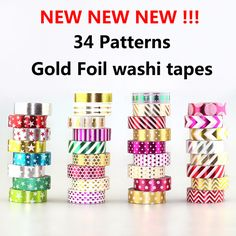 NEW 1X 15mm*10m Gold Foil Gilded Paper Tapes Print Scrapbooking DIY Sticker Decorative Masking Japanese Washi Tape Paper Lot 10m-in Office Adhesive Tape from Office & School Supplies on Aliexpress.com   Alibaba Group