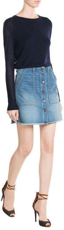Diane von Furstenberg Merino Wool Pullover with Silk