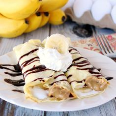 Whether for a weekend brunch or a weeknight dinner, these Banana Fluffernutter Crepes are delicious and easy!