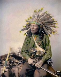 Native American Indian Pictures: Rare Color Tinted Historic Photographs of Oglala Lakota Sioux Indians