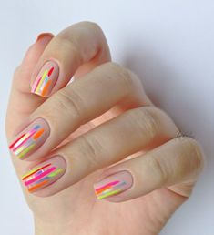 21 Fresh Negative Space Nail Ideas for Summer – neon nail art Minimalist Nails, Summer Minimalist, Best Nail Art Designs, Beautiful Nail Designs, Simple Designs, Summer Acrylic Nails, Summer Nails, Nail Ideas For Summer, Spring Nails