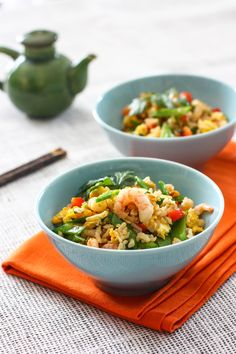 Authentic Shrimp Fried Rice - Eat, Live, Run Rice Recipes, Seafood Recipes, Asian Recipes, Cooking Recipes, Healthy Recipes, Chinese Recipes, What's Cooking, Shrimp Fried Rice, Shrimp Dishes