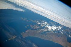 Panorama del archipiélago de Tierra del Fuego y Cabo de Hornos (Argentina y Chile), desde la ISS