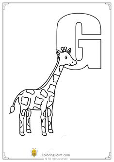 Alphabet Letter G Printable Activities Coloring Page
