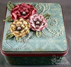 Click to Zoom: Altered Posy Patch Gift Box