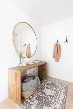 neutral boho-chic entryway ideas