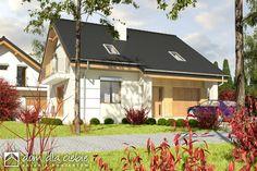 Nowinka III - optymalny projekt domu dla 4-5 osobowej rodziny. Tani w realizacji i ekonomiczny w eksploatacji. Zapraszam do zapoznania się z projektem.  Wizualizacja elewacji frontowej.