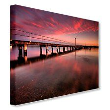 Pier at sunset Canvas Art, Sea, Sunset, Creative, Inspiration, Image, Biblical Inspiration, Painted Canvas, Sunsets