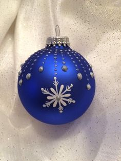 This Blue Hand painted Glass Christmas Ball is just one of the custom, handmade pieces you'll find in our ornaments & accents shops. Glass Christmas Balls, Painted Christmas Ornaments, Christmas Rock, Hand Painted Ornaments, Diy Christmas Ornaments, Angel Ornaments, Ball Ornaments, Christmas Mandala, Christmas Crafts