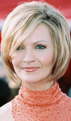 Hairstyles For Women Over 50 - Blond Round Bob