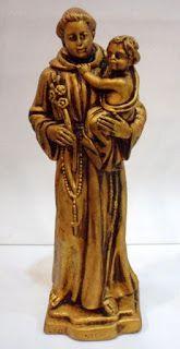 Ateliê Le Mimo: RELIGIOSO Santo Antonio 30cm - peça em gesso