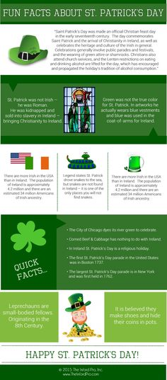 """Saint Patrick's Day commemorates Saint Patrick and the arrival of Christianity in Ireland, as well as celebrating the heritage and culture of the Irish in general. Celebrations generally in…"
