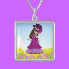 Sterling Silver Necklace Brown Hair Princess $154.75