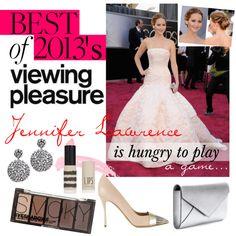 """""""Jennifer Lawrence is 2013's viewing pleasure!""""  #fureeekshow #fashion #beauty #jenniferlawrence"""