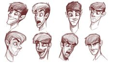 How to draw heads of slim characters                              …