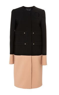 Doubleface Crepe Bicolor Jacket With Circle Detail by Derek Lam for Preorder on Moda Operandi