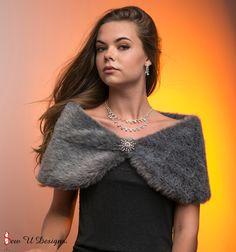 """Custom 10"""" wide Bride's Charcoal Grey Plush Faux Fur Wrap Winter Wedding shawl Formal shawl shrug by sewudesigns on Etsy https://www.etsy.com/listing/243342482/custom-10-wide-brides-charcoal-grey"""
