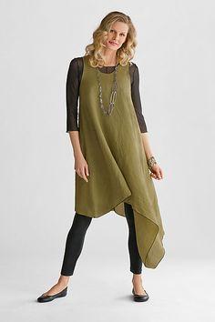 Asymmetric Long Linen Tunic: Cynthia Ashby: Linen Tunic | Artful Home