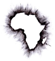 Africa outline map | Design | Pinterest | Africa outline, Africa