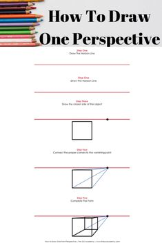 The Basics of One Point Perspective – Drawing Techniques Linear Perspective Drawing, 1 Point Perspective, Basic Drawing, Drawing Tips, Drawing Tutorials, Interior Architecture Drawing, Adult Art Classes, Drawing Exercises, Vanishing Point