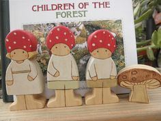CHILDREN of the FOREST Waldorf Inspired Wood Set Story Book Series.
