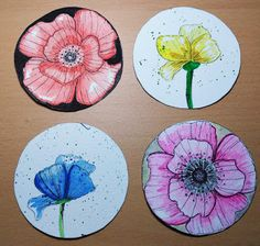 Made In Borgo: A.T.C. Coins Flowers Atc, Coins, Crafting, Flowers, How To Make, Coining, Basteln, Florals, Artesanato
