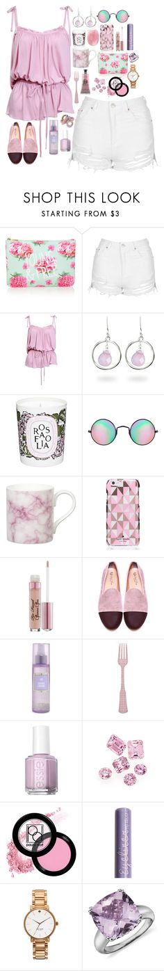 """""""Iris - $991.34"""" by shazellove ❤ liked on Polyvore featuring Forever 21, Topshop, Fantasy Jewelry Box, Diptyque, Reclaimed Vintage, Gary Birks Design, Kate Spade, Too Faced Cosmetics, Del Toro and Disney Couture"""