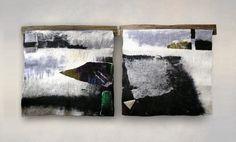 "From the series ""Northern Landscape"", diptych, wool, felting, cm. Felt Pillow, Handmade Felt, Wet Felting, Art Techniques, Textile Art, Gallery, Artwork, Crafts, Painting"