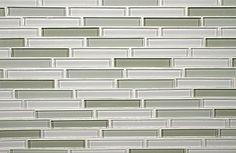 4x5/8 Blends Tiles   Saltillo Imports Inc.  grey, stacked, glass backsplash
