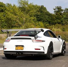 Porsche 991 GT3 RS painted in White   Photo taken by: @northeastmotorcars on Instagram