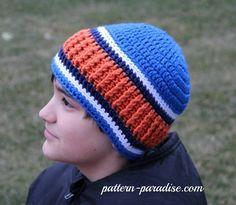 Free crochet pattern for men's / women's unisex beanie by pattern-paradise.com #crochet #patternparadisecrochet #hat #fbeanie