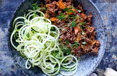 Bolognese med grøntsags-spaghetti - nemlig.com