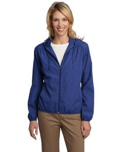 09f4968057 Port Authority - Ladies Hooded Essential Lightweight Windbreaker Jacket.  L305 at Amazon Women s Coats Shop