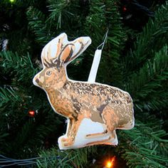 Jackalope Ornament now featured on Fab.