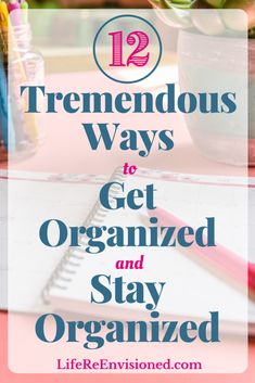 Are you struggling to find ways to get organized and stay organized? Try these must-do organizing methods for a simpler, less stressful life and more time to do what's important to you. Declutter Your Home, Organize Your Life, Clutter Organization, Organizing, Cozy Home Decorating, Life Run, Learning To Say No, Small Notebook, Time Management Tips