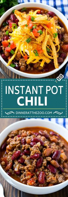 Low Carb Recipes To The Prism Weight Reduction Program Instant Pot Chili Beef Chili Easy Chili Recipe Chili Recipes, Soup Recipes, Chili Recipe Crockpot Best, Beef Chili Recipe, Crockpot Meals, Fall Recipes, Cooking Recipes, Instant Pot Pressure Cooker, Pressure Cooker Recipes