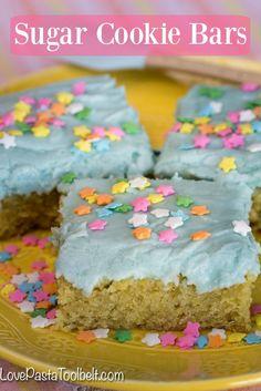 Sugar Cookie Bars- sub flour for paleo