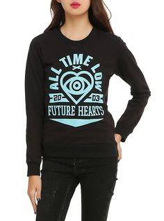 All Time Low Future Hearts Girls Pullover Top, BLACK