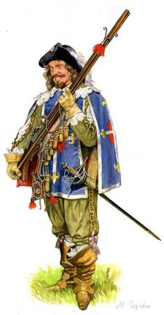 The King's Musketeers Military Art, Military History, Conquest Of Mythodea, 17th Century Clothing, Thirty Years' War, Armadura Medieval, Landsknecht, The Three Musketeers, French Army