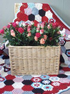 Hexagon Motif Crochet Afghan