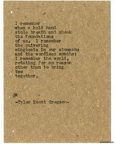 Typewriter Series #1689 by Tyler Knott Gregson