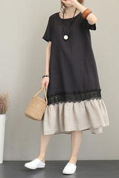 Casual Quilted Linen Dresses Women Fashion Clothes – Linen Dresses For Women Linen Dresses, Casual Dresses, Casual Outfits, Casual Clothes, Fashion Mode, Trendy Fashion, Womens Fashion, Fashion 2018, Street Fashion
