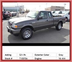 2011 Ford Ranger XLT Pickup 4-Wheel Abs Brakes, Tires: Speed Rating: S, Body-Colored Bumpers, Tachometer, Rear Jump Seat