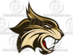 Cartoon Bobcat Mascot Clipart Graphics